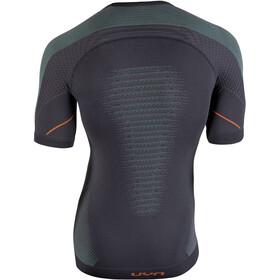 UYN M's Multisport Evolutyion UW SS Shirt Charcoal/Green/Orange Shiny